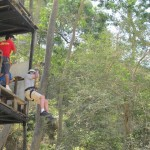 Zip line Ride - Go Grandpa!